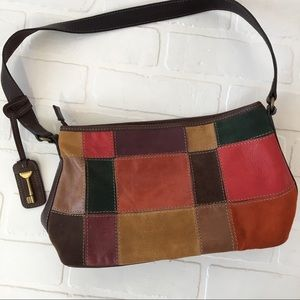 Fossil 1954 leather patchwork bag